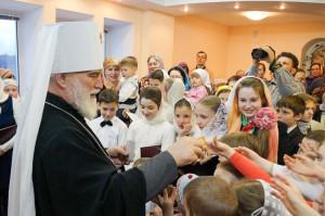 Патриарший Экзарх всея Беларуси Митрополит Минский и Слуцкий Павел в здании Витебской филармонии встретился с общественностью города Витебска.