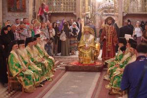 Ректора Витебской духовной семинарии сослужил Патриарху Иерусалимскому Феофилу III на Божественной Литургии в храме Гроба Господня