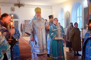 В канун недели 14-ой по пятидесятнице ректор семинарии совершил всенощное бдение Свято-Троицком Марковом монастыре г. Витебска