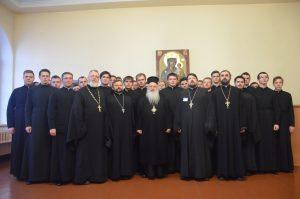 Встреча преподавателей и студентов Витебской духовной семинарии с митрополитом Верии, Науссы и Камбании Пантелеимоном
