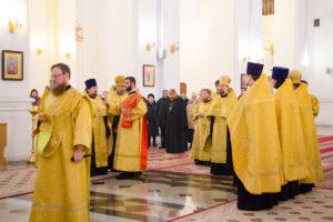 Настоятели витебских храмов соборно помолились святителю Спиридону Тримифунтскому