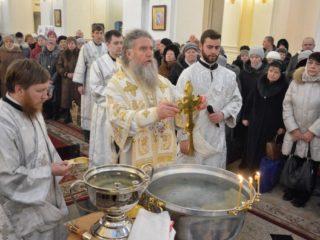 Служение ректора в праздник Крещения Господня