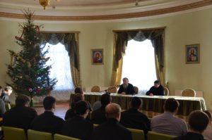 встреча студентов с ректором Витебской духовной семинарии