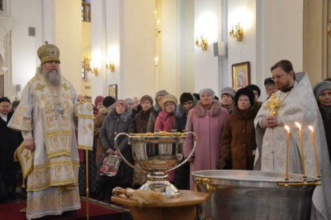 Служение ректора в праздник Богоявления