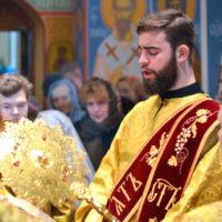 Ректор семинарии возглавил Божественную литургию в Никольском храме города Витебска