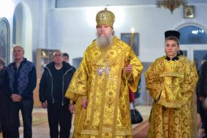 Ректор Витебской духовной семинарии совершил всенощное бдение в Марковом мужском монастыре