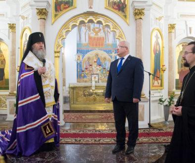Ректор семинарии возглавил ежегодный соборный Рождественский молебен