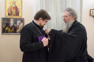 Первый проректор семинарии награжден медалью «Святой Владимир исповедник Витебский» Iстепени