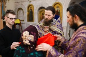 В Лазареву субботу студенты семинарии помолились в Свято-Троицком Марковом мужском монастыре города Витебска