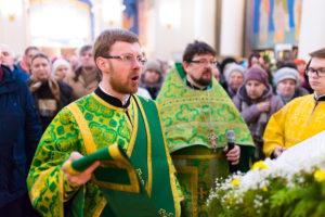 В праздник Входа Господня в Иерусалим студенты и преподаватели помолились в храме Воскресения Христова