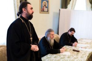 В актовом зале Витебской духовной семинарии состоялась встреча ректора со студентами