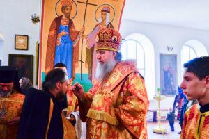 Ректор семинарии совершил всенощное бдение в Марковом мужском монастыре