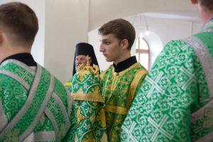 Ректор возглавил всенощное бдение в храме преподобной Евфросинии Полоцкой города Витебска