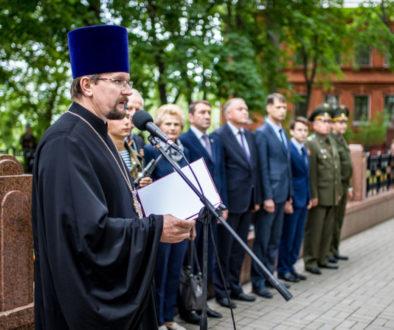 Представители семинарии приняли участие в митинге, посвященном погибшим в ВОВ