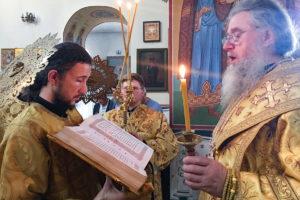 Ректор семинарии возглавил всенощное бдение в Свято-Троицком Марковом монастыре