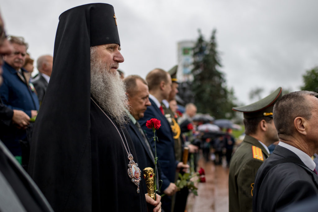 Ректор Витебской духовной семинарии присутствовал на параде в честь Дня Независимости Республики Беларусь в Витебске