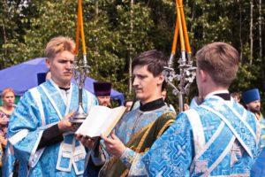 Ректор и студенты духовной семинарии приняли участие в молебне на границе Российской Федерации и Республики Беларусь