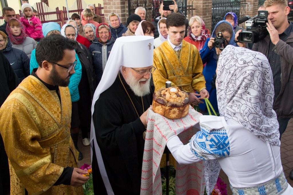 Освящение храма Преображения Господня в городском поселке Копысь. Фоторепортаж