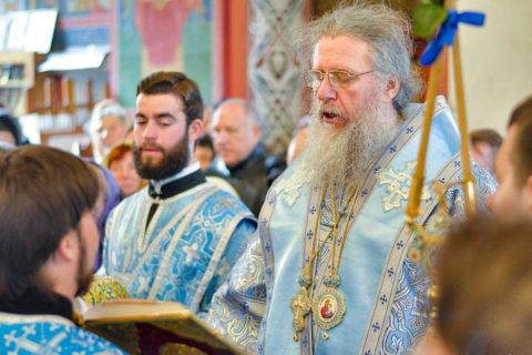 Ректор Витебской духовной семинарии совершил всенощное бдение в Свято-Покровском соборе