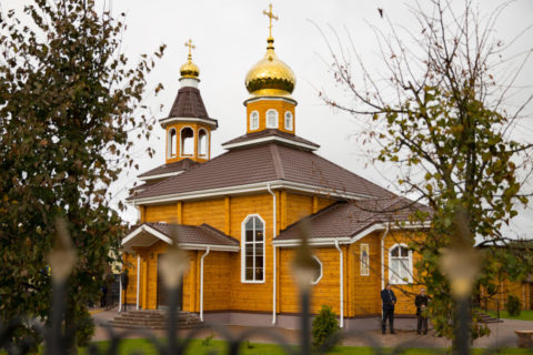 Митрополит Минский и Заславский Павел освятил храм Преображения Господня в городском поселке Копысь