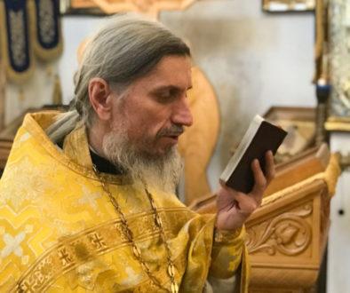 Ректор семинарии наградил медалью «Святой Владимир исповедник Витебский» I степени преподавателя литургики