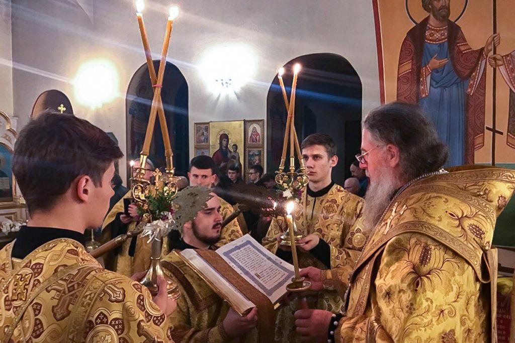 Архиепископ Димитрий совершил всенощное бдение в Марковом мужском монастыре