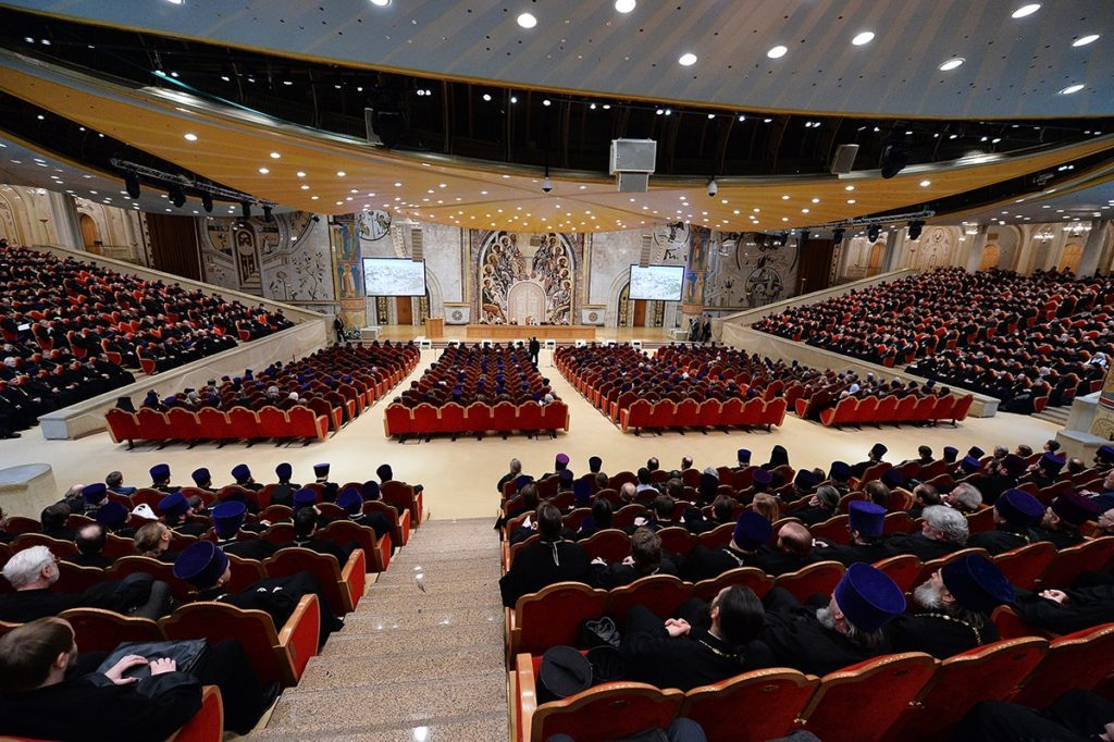 Ректор семинарии принял участие в Епархиальном собрании духовенства города Москвы.