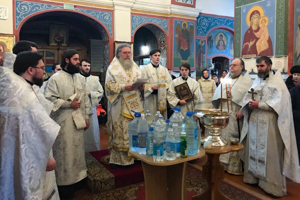 В Крещенский сочельник ректор семинарии совершил богослужение в Свято-Покровском соборе