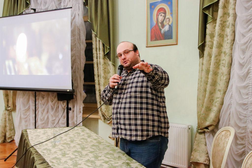 В актовом зале семинарии прошла встреча с журналистом Константином Церцвадзе, посвященная старцу Гавриилу (Ургебадзе)