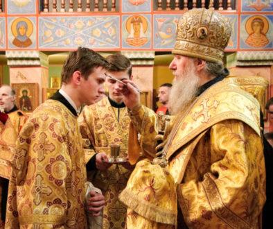 Ректор семинарии возглавил всенощное бдение в храме святого великомученика Георгия Победоносца города Витебска