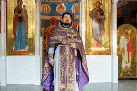 В среду первой седмицы Великого поста первый проректор совершил Литургию Преждеосвященных Даров в храме Воскресения Христова