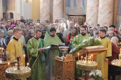 В семинарии отметили Вербное воскресенье