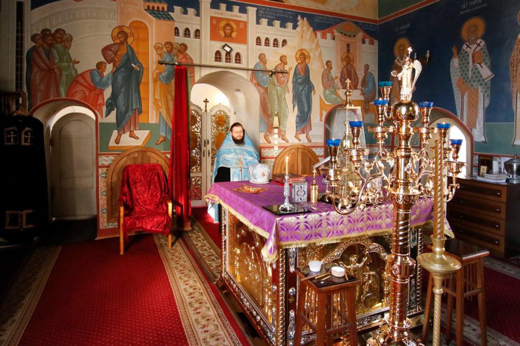 В канун Субботы Акафиста семинаристы помолились в Марковом мужском монастыре