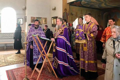 Ректор семинарии совершил Пассию в храме святой мученицы Татьяны
