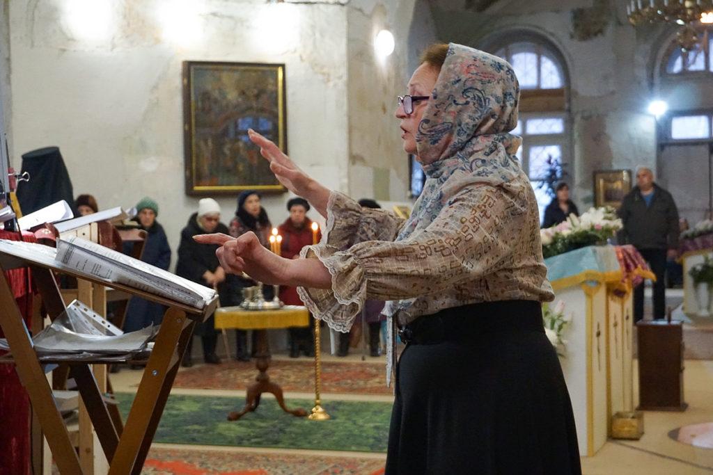 В канун праздника Благовещения Пресвятой Богородицы ректор семинарии совершил всенощное бдение вхраме святой великомученицы Ирины