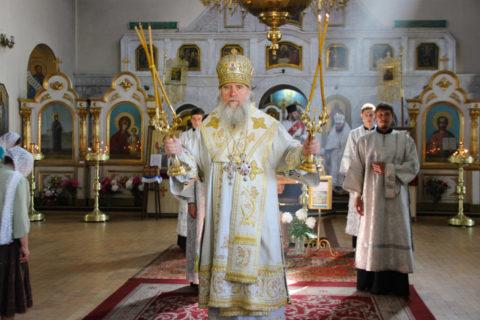 В праздник Вознесения Господня ректор семинарии совершил Литургию в Марковом мужском монастыре