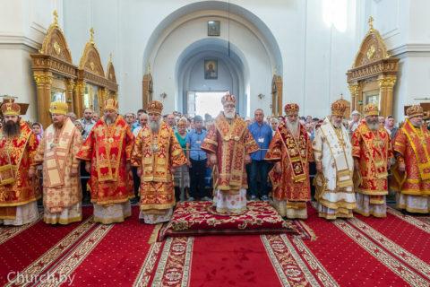 Ректор семинарии принял участие вторжествах послучаю дня памяти святой преподобной Евфросинии Полоцкой