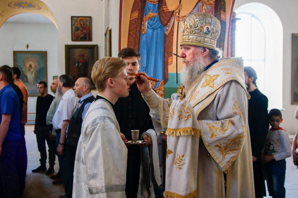 В канун Недели 7-й по Пасхе ректор семинарии совершил всенощное бдение в Марковом монастыре
