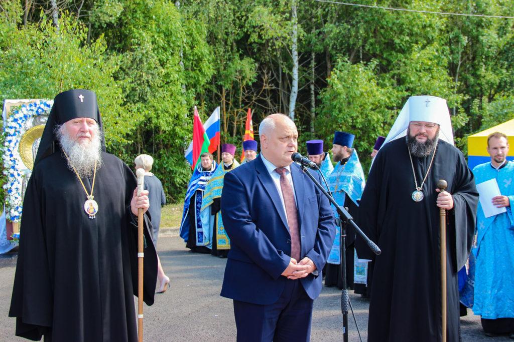 Ректор семинариипринял участие во встрече XVII Международного Одигитриевского крестного хода на границе РБ и РФ