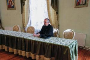 В актовом зале семинарии состоялась встреча студентов с духовником учебного заведения