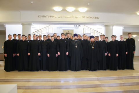 Делегация Витебской духовной семинарии посетила открытие православной книжной выставки-форума «Радость Слова»