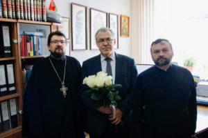 Заведующий кафедрой церковной истории Витебской духовной семинарии получил поздравления с 60-летием