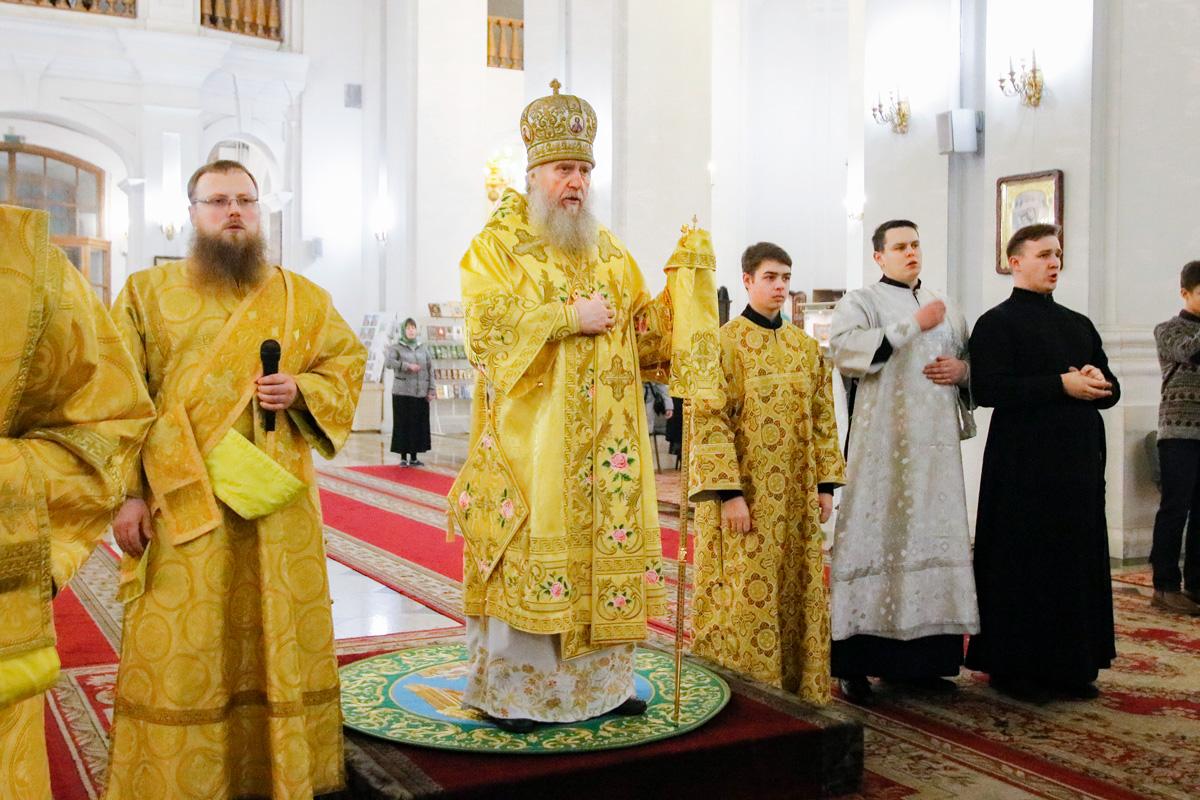 Ректор семинарии совершил всенощное бдение в кафедральном соборе города Витебска