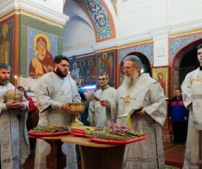В канун праздника Сретения Господня ректор семинарии совершил всенощное бдение в Свято-Покровском соборе города Витебска