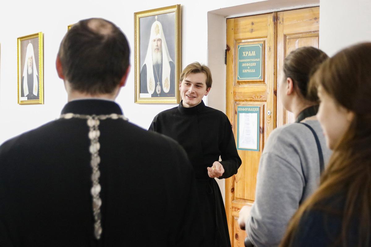 В минувшие выходные семинарию посетили представители братства в честь святого апостола Иоанна Богослова города Минска