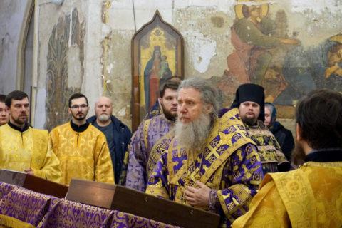 В канун Недели первой Великого поста ректор семинарии совершил всенощное бдение в храме святой великомученицы Ирины