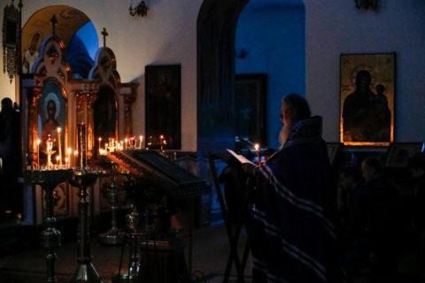 Во вторник первой седмицы Великого поста ректор семинарии совершил богослужение в Свято-Троицком Марковом мужском монастыре