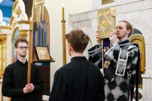 В канун Недели 2-й Великого поста семинаристы помолились в Свято-Троицком Марковом мужском монастыре