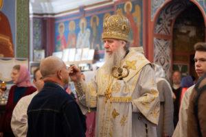 Вв канун праздника Вознесения Господня ректор семинарии совершил богослужение в Свято-Покровском соборе города Витебска