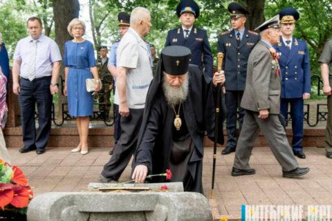 Ректор семинарии принял участие в митинге-реквиеме в память о жертвах Великой Отечественной войны